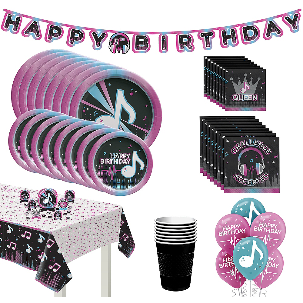 Internet Famous Birthday Tableware Kit for 16 Guests Image #1