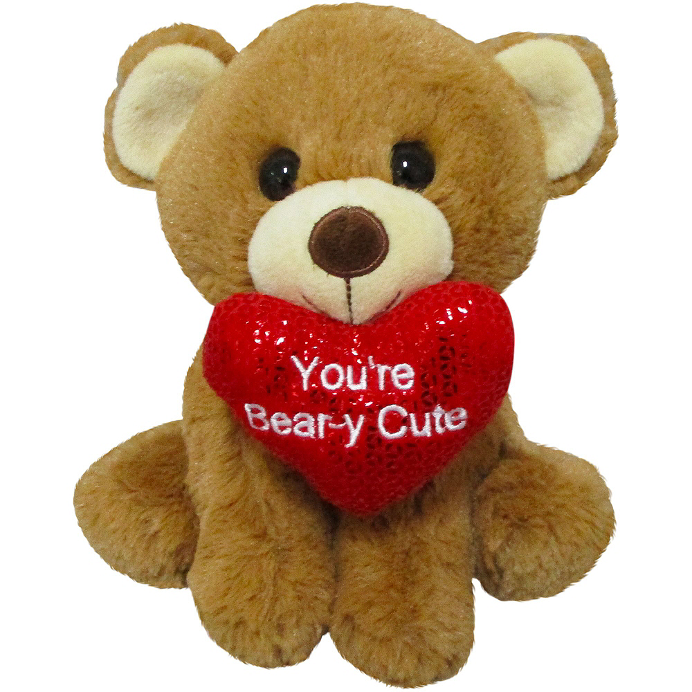 Love You Heart Balloon Bouquet & Bear Plush Valentine's Day Gift Kit Image #4