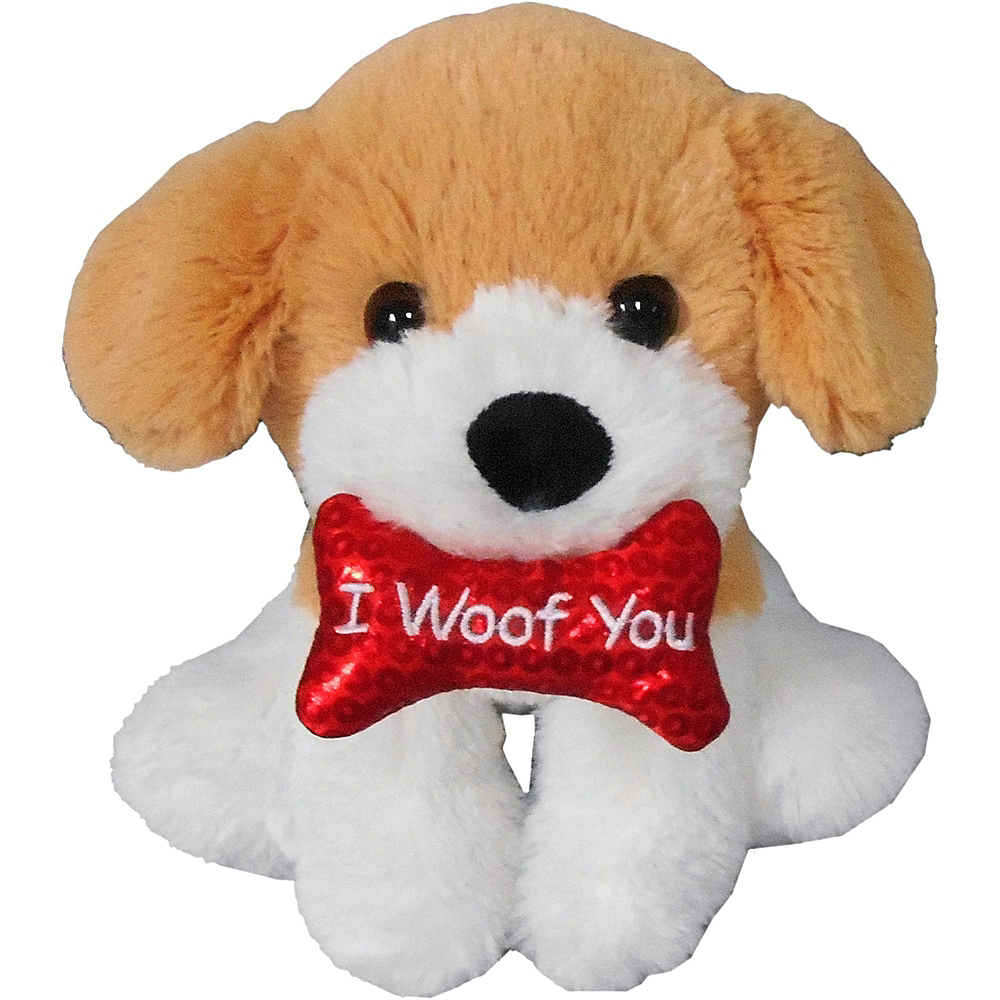 Happy Valentine's Day Heart Balloon Bouquet & Puppy Plush Gift Kit Image #4