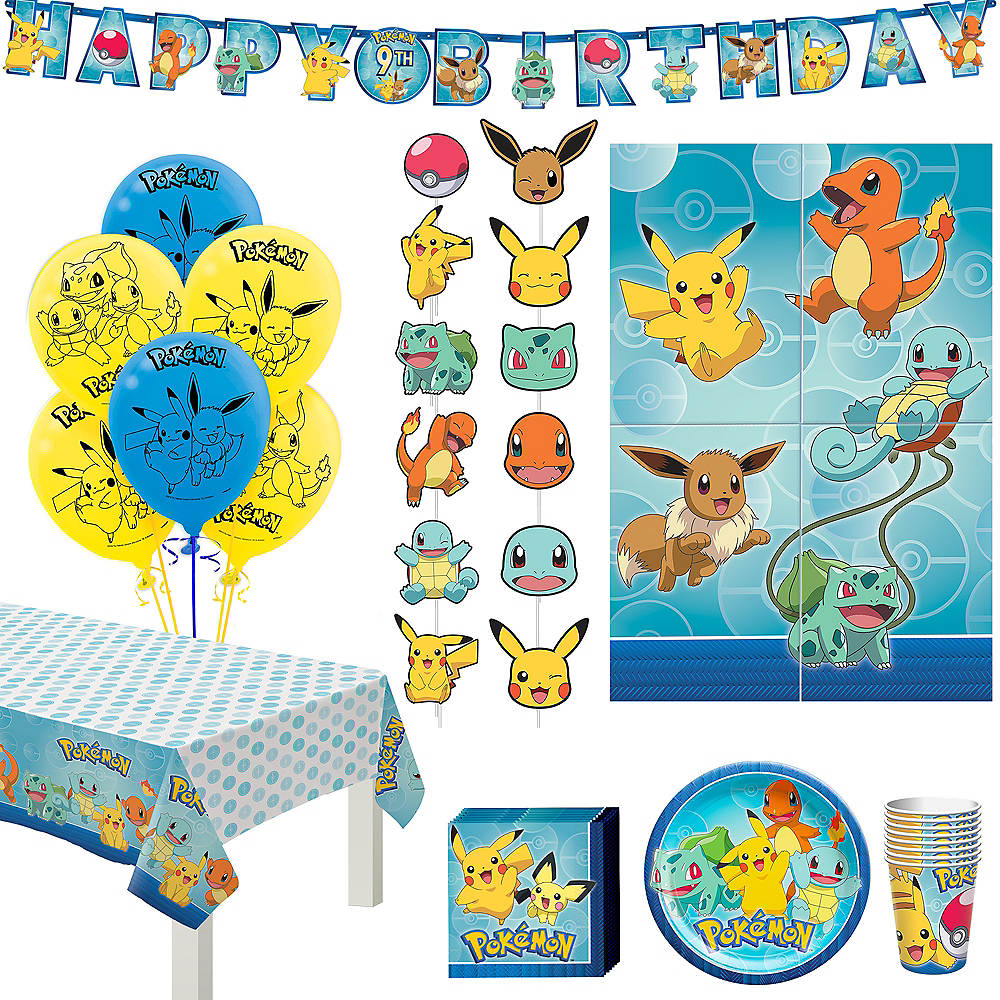 Classic Pokemon Birthday Party Kit for 8 Guests Image #1