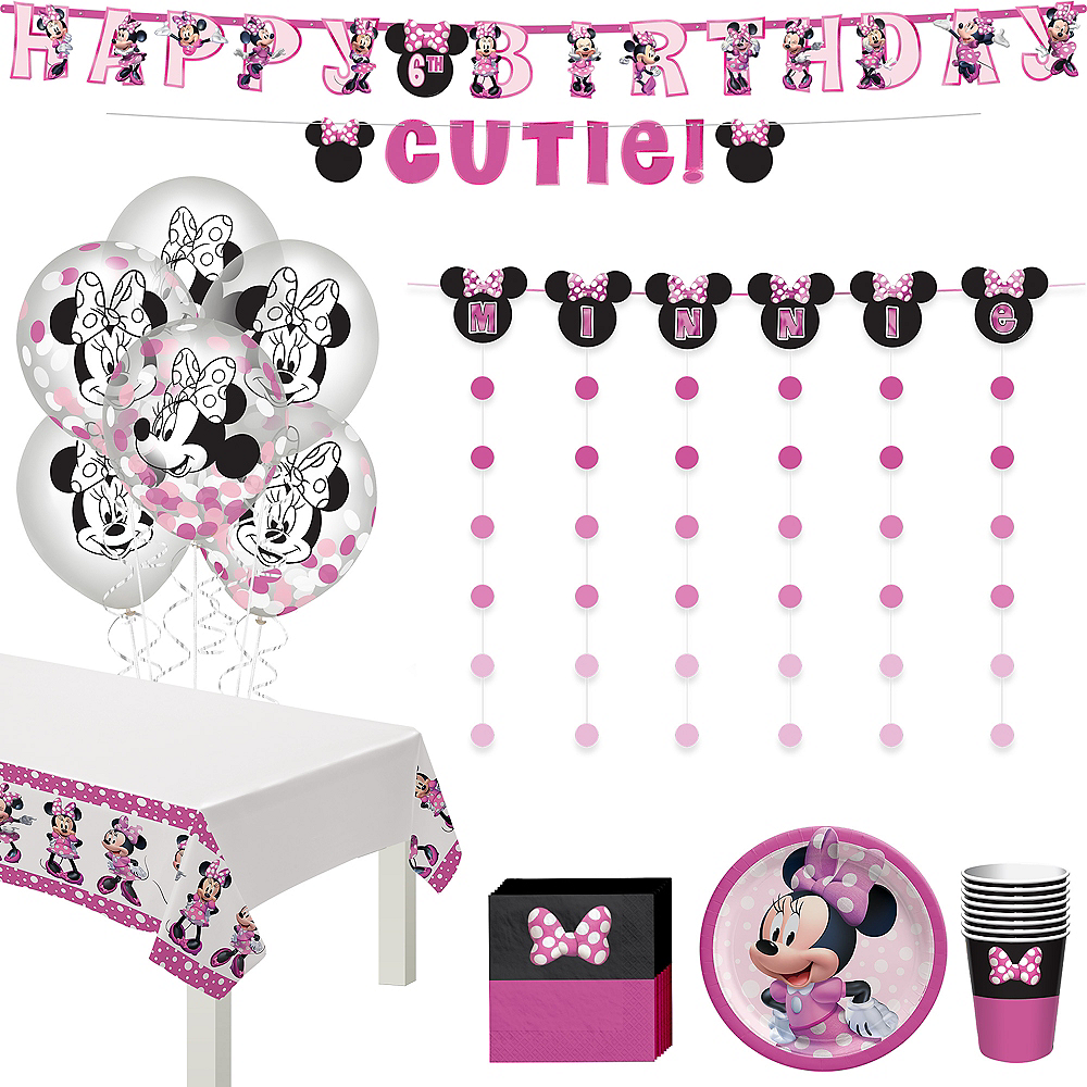 Minnie Mouse Forever Birthday Party Kit for 8 Guests Image #1