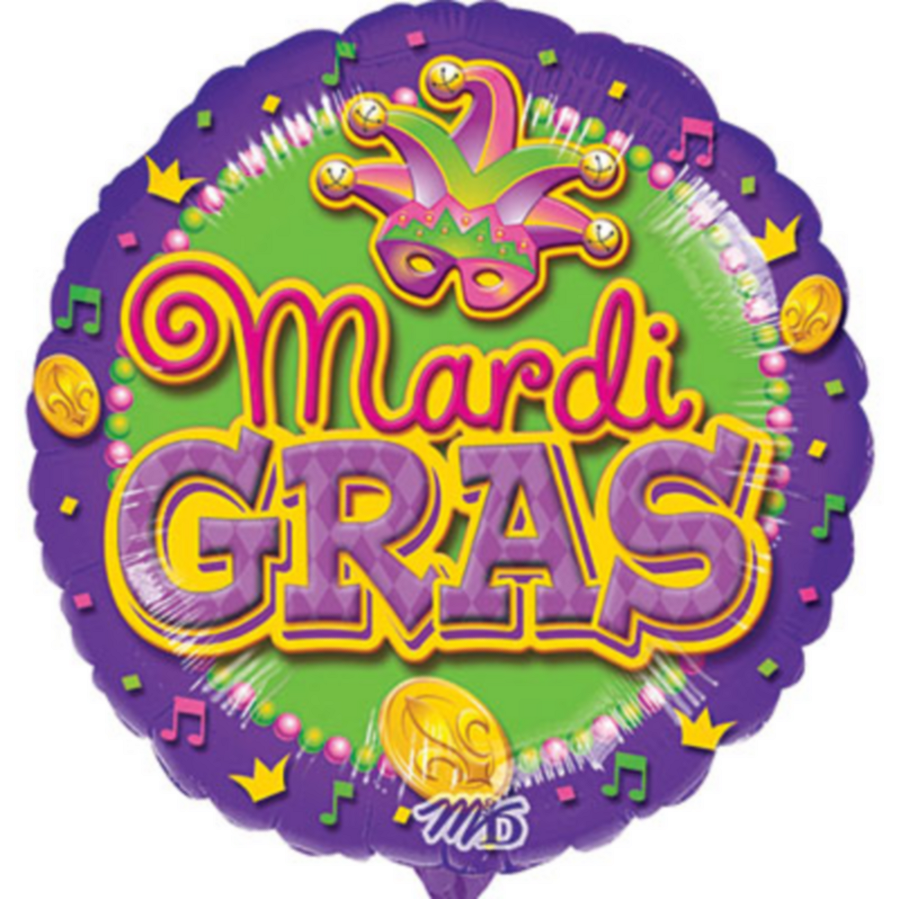 Mardi Gras Balloon - Mask, 17in Image #1