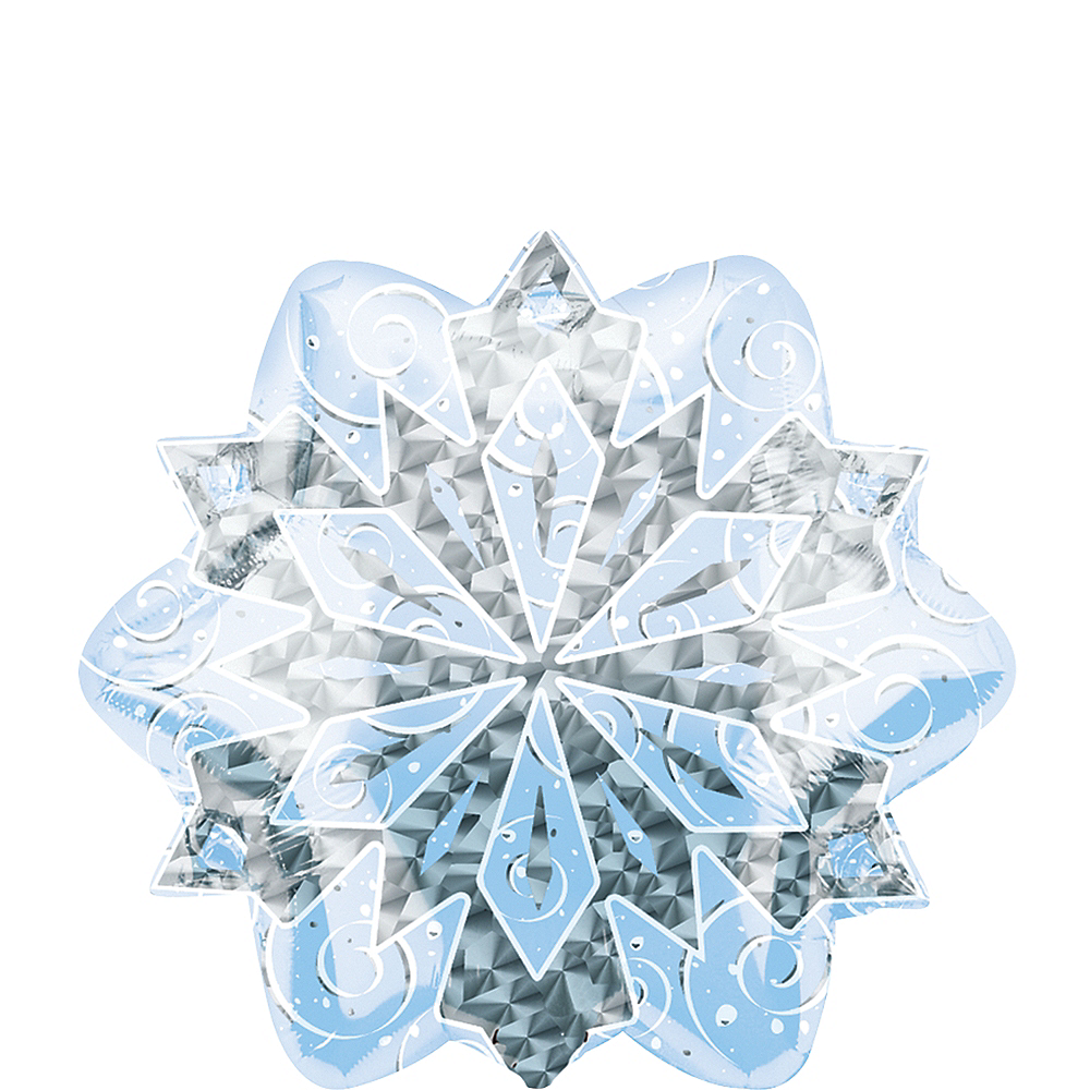 Snowflake Balloon - Prismatic, 18in Image #1