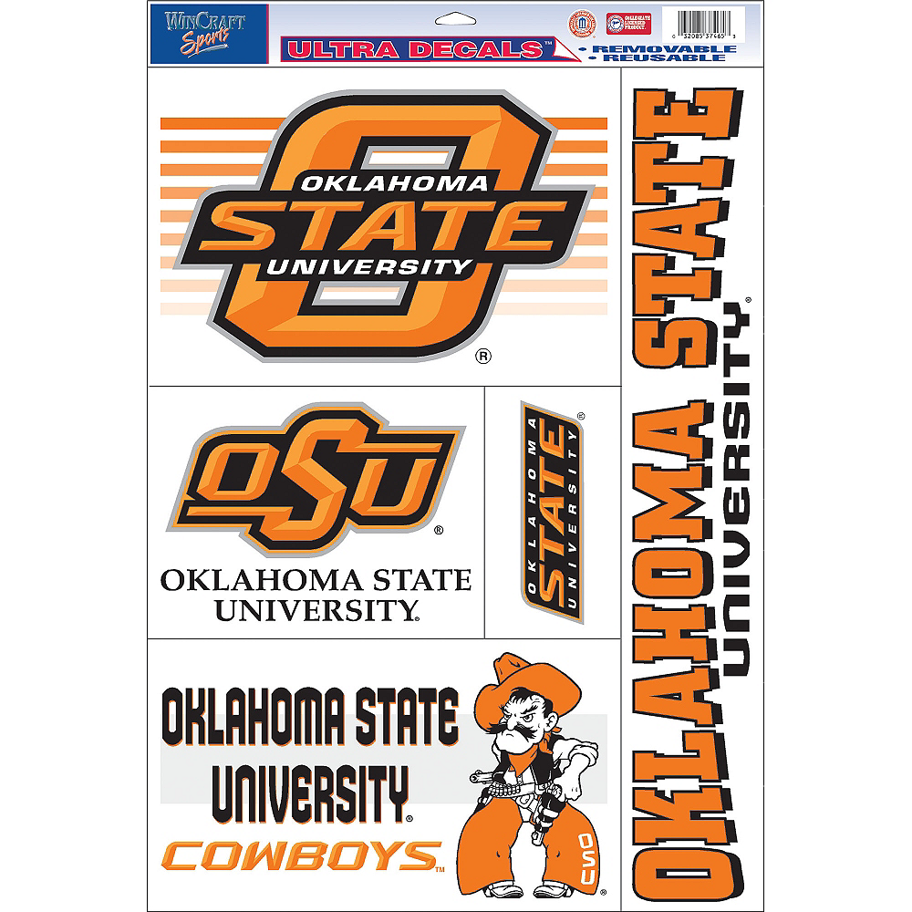 Oklahoma State Cowboys Decals 5ct Image #1