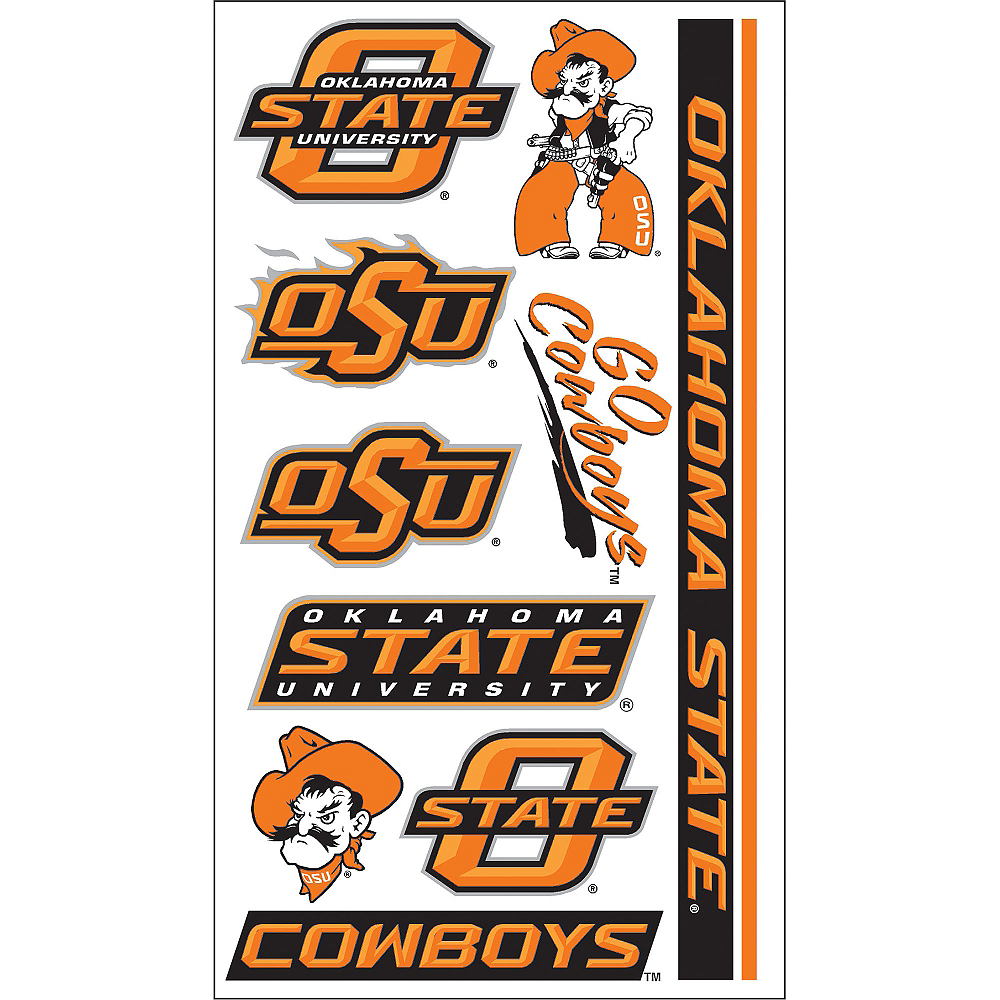Oklahoma State Cowboys Tattoos 10ct Image #1