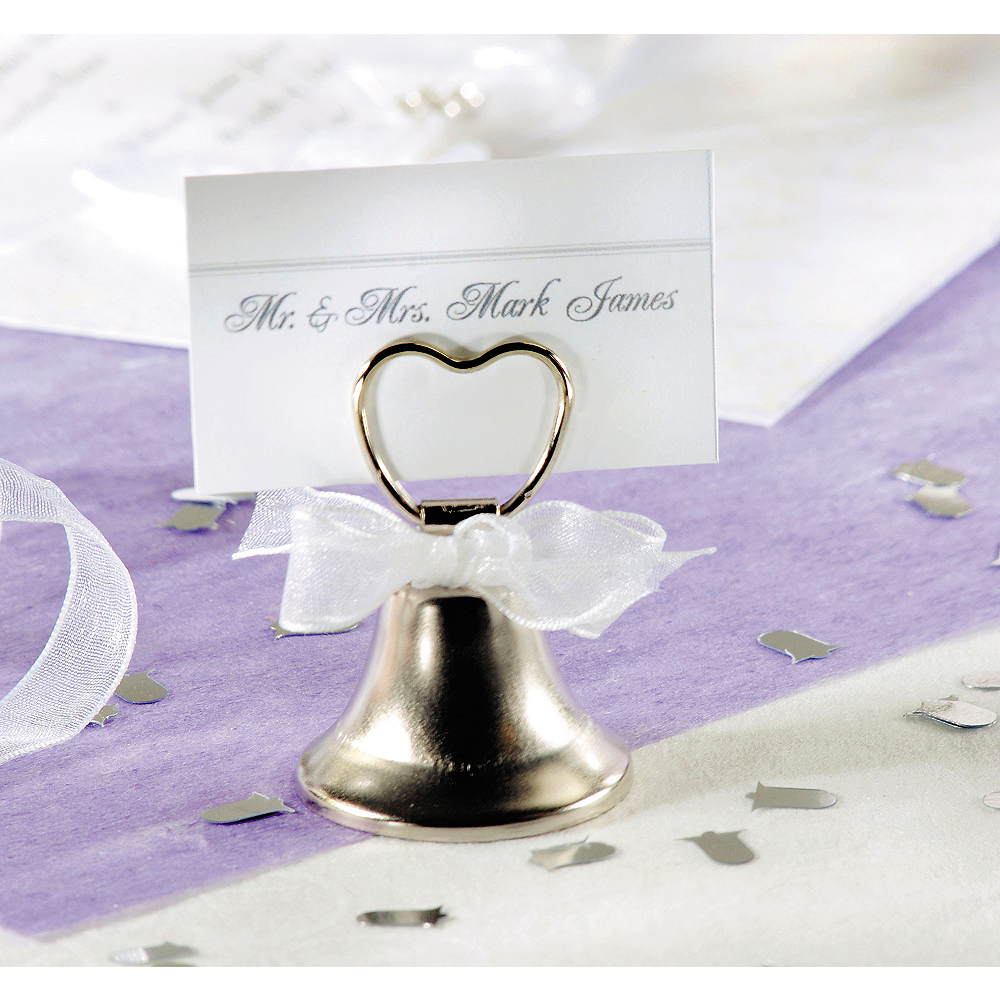 Silver Bell Place Card Holders Image #1