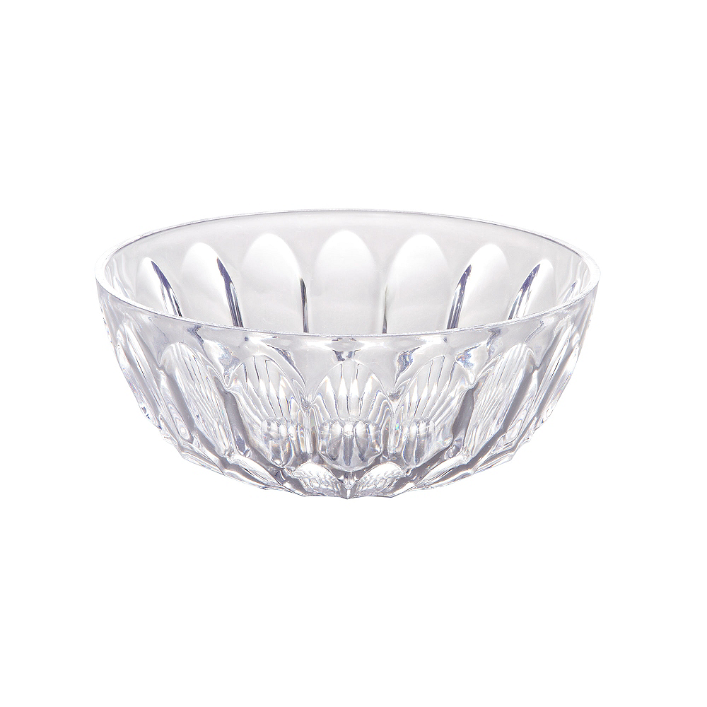 CLEAR Plastic Crystal Cut Bowl Image #1