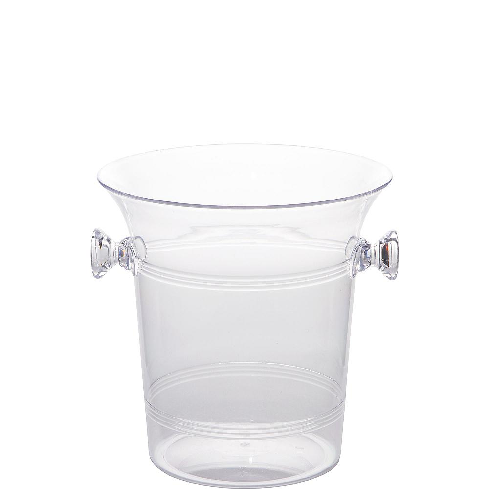 CLEAR Plastic Ice Bucket Image #1