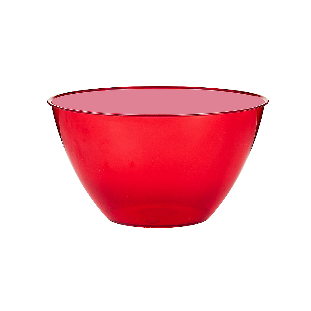 Small Red Plastic Bowl Image #1