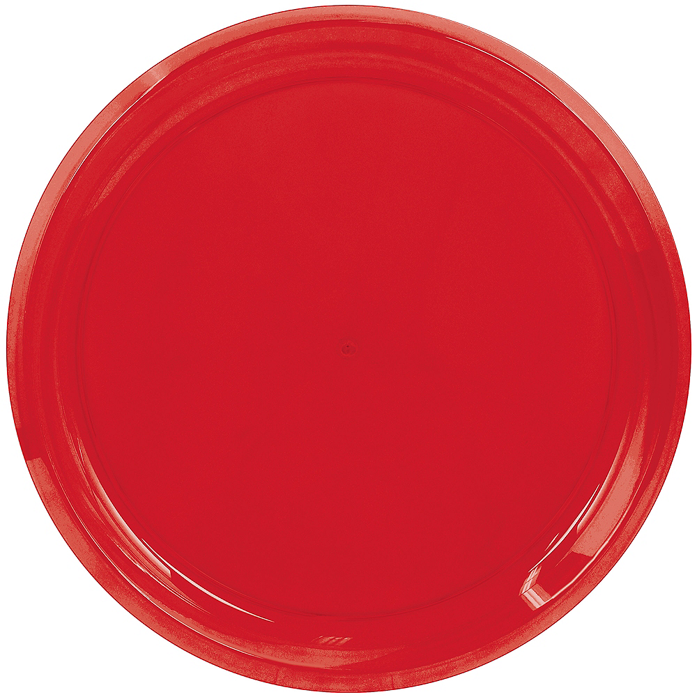 Nav Item for Red Plastic Round Platter Image #1