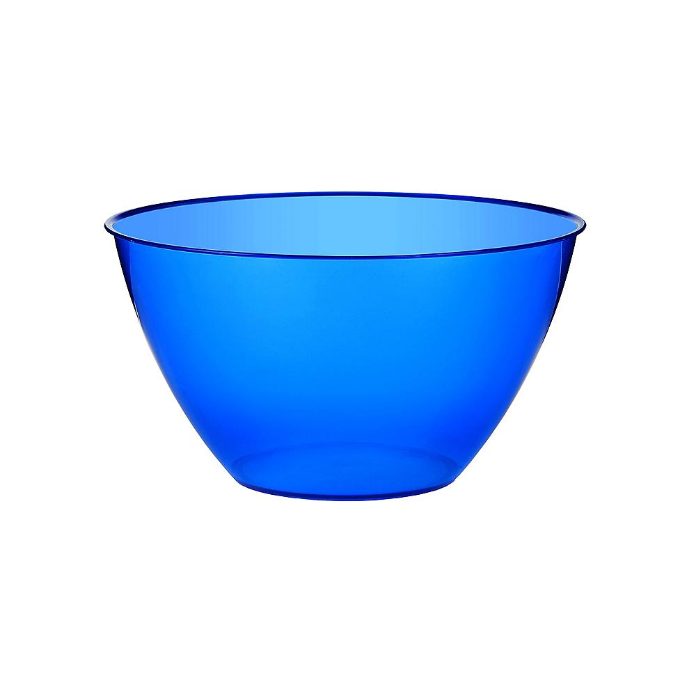 Small Royal Blue Plastic Bowl Image #1