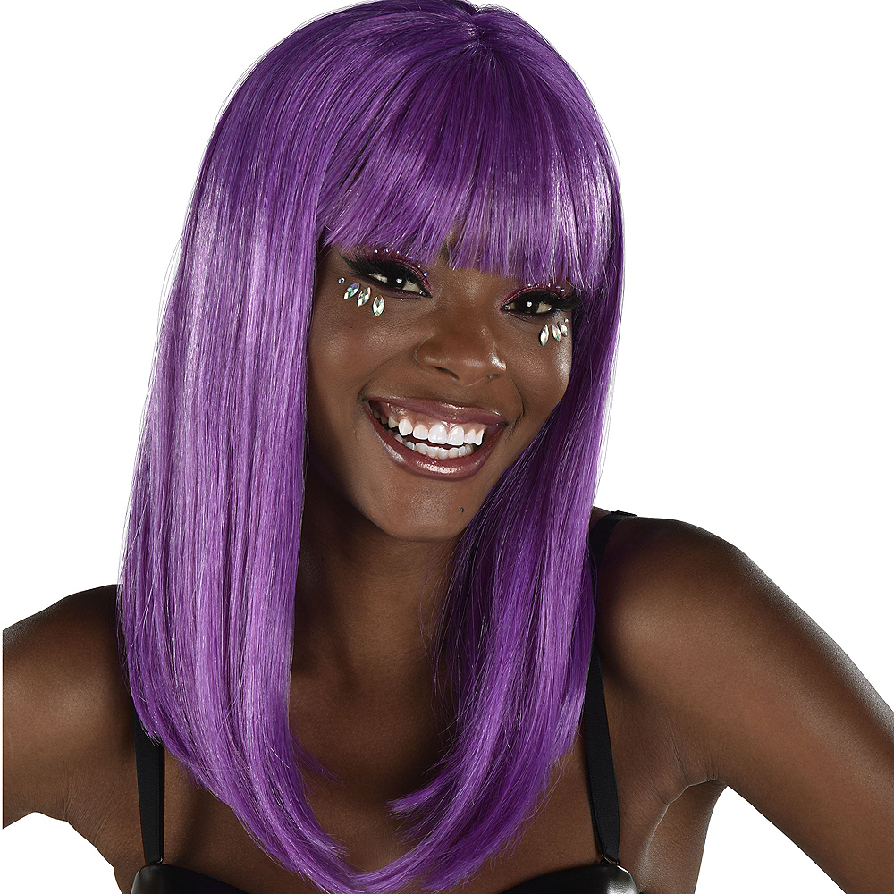 Nav Item for Classic Beauty Long Purple Wig Image #1