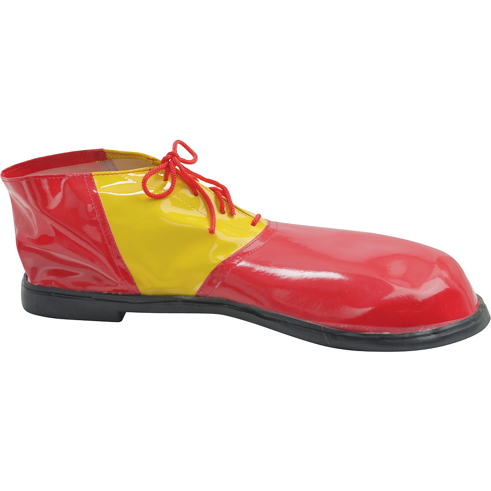 Adult Red & Yellow Clown Shoes Deluxe Image #1