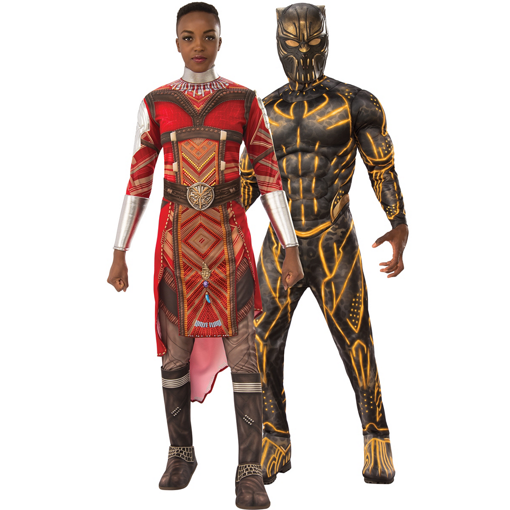 Nav Item for Adult Dora Milaje & Killmonger Couples Costumes - Black Panther Image #1