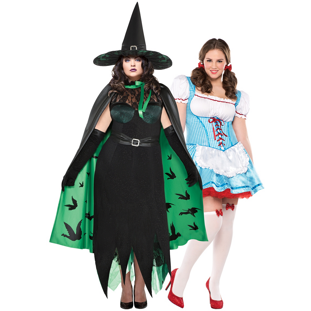 Women's Dorothy & The Wicked Witch Couples Costumes Plus Size - Wizard of Oz Image #1