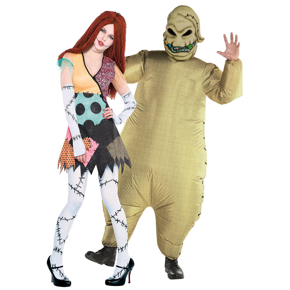 Adult Rag Doll Sally & Inflatable Oogie Boogie Couples Costumes - The Nightmare Before Christmas Image #1