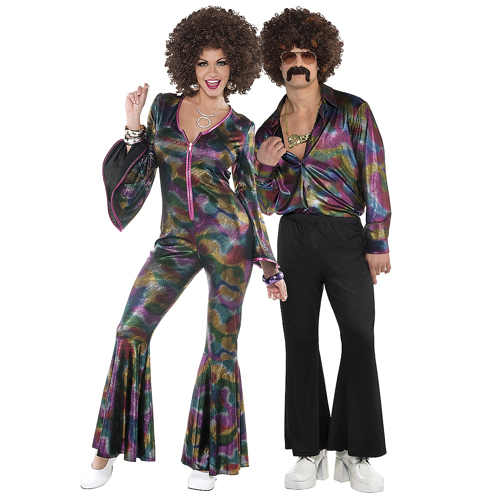 Adult Disco Pant Suit & Disco Shirt Couples Costumes Image #1