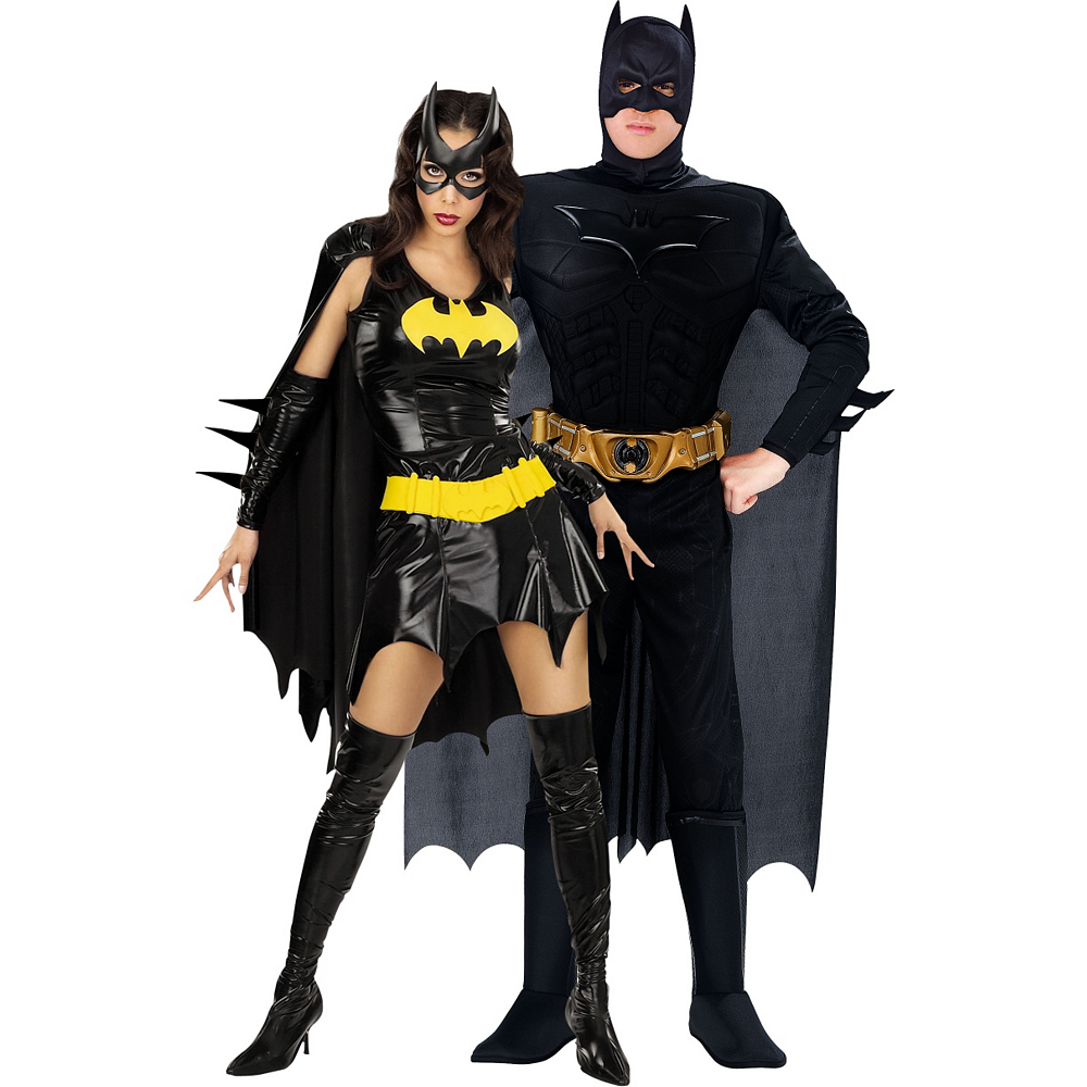 Batgirl & Batman Dark Knight Couples Costumes Image #1