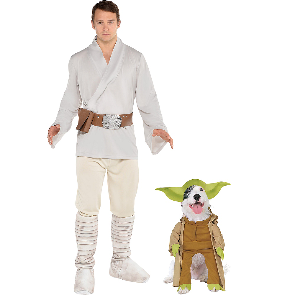 Adult Luke Skywalker & Yoda Doggy & Me Costumes - Star Wars Image #1