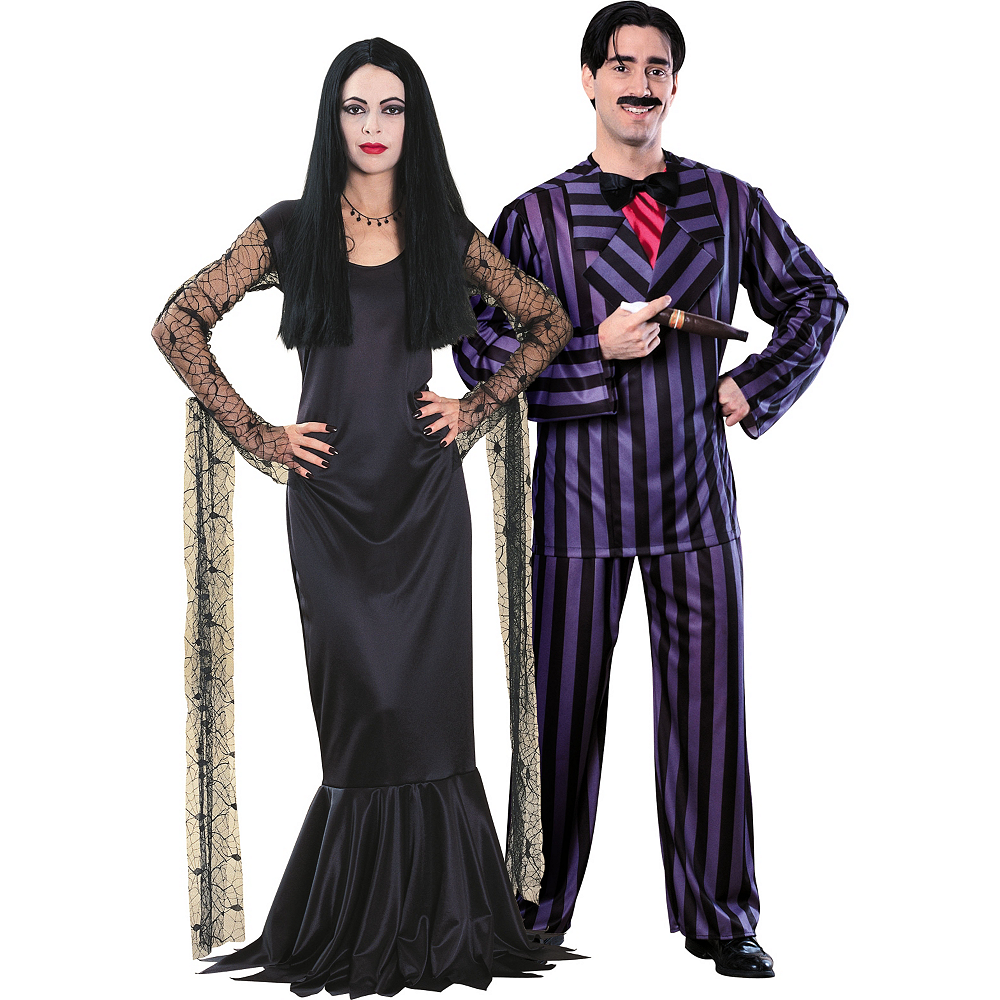 Morticia Addams And Gomez Addams Family Couples Costumes Party