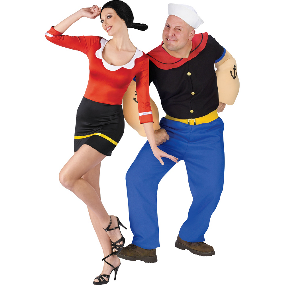 Nav Item for Sexy Olive Oyl & Popeye Couples Costumes Image #1