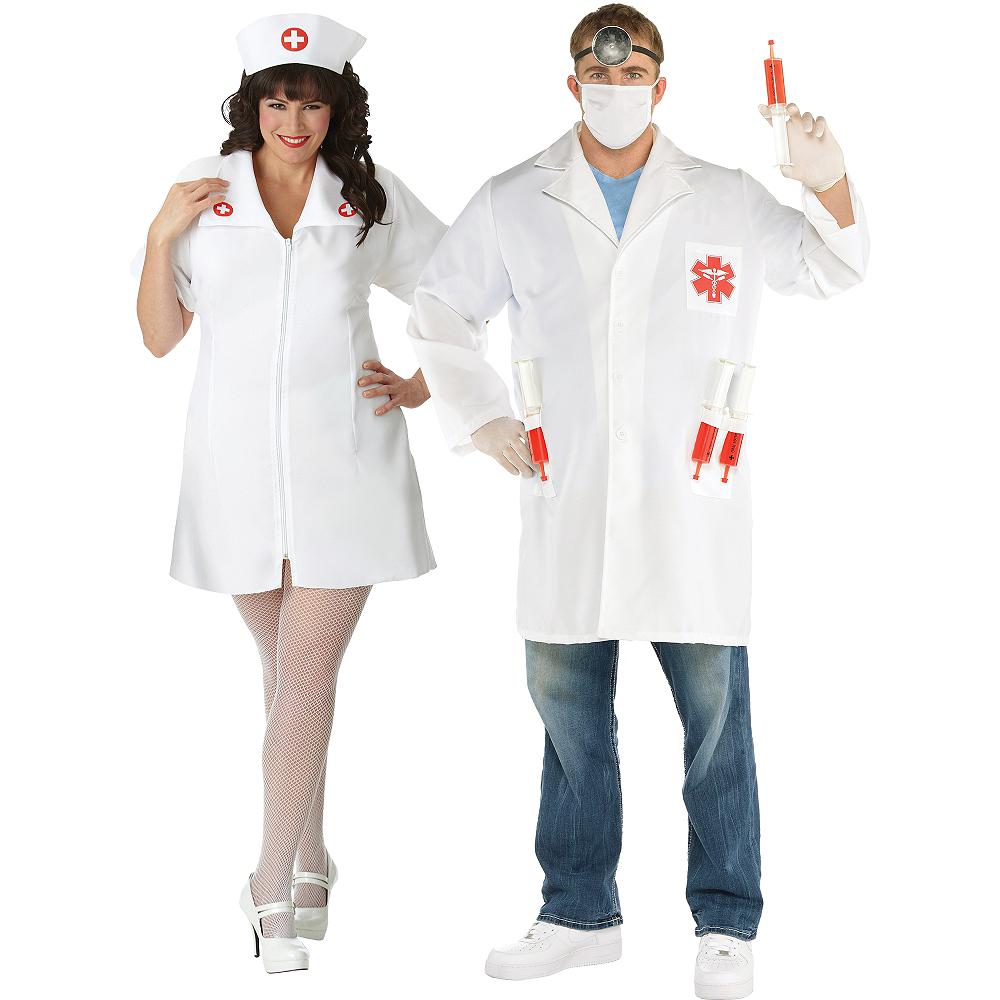 Adult Nurse & Doctor Couples Costumes Plus Size Image #1