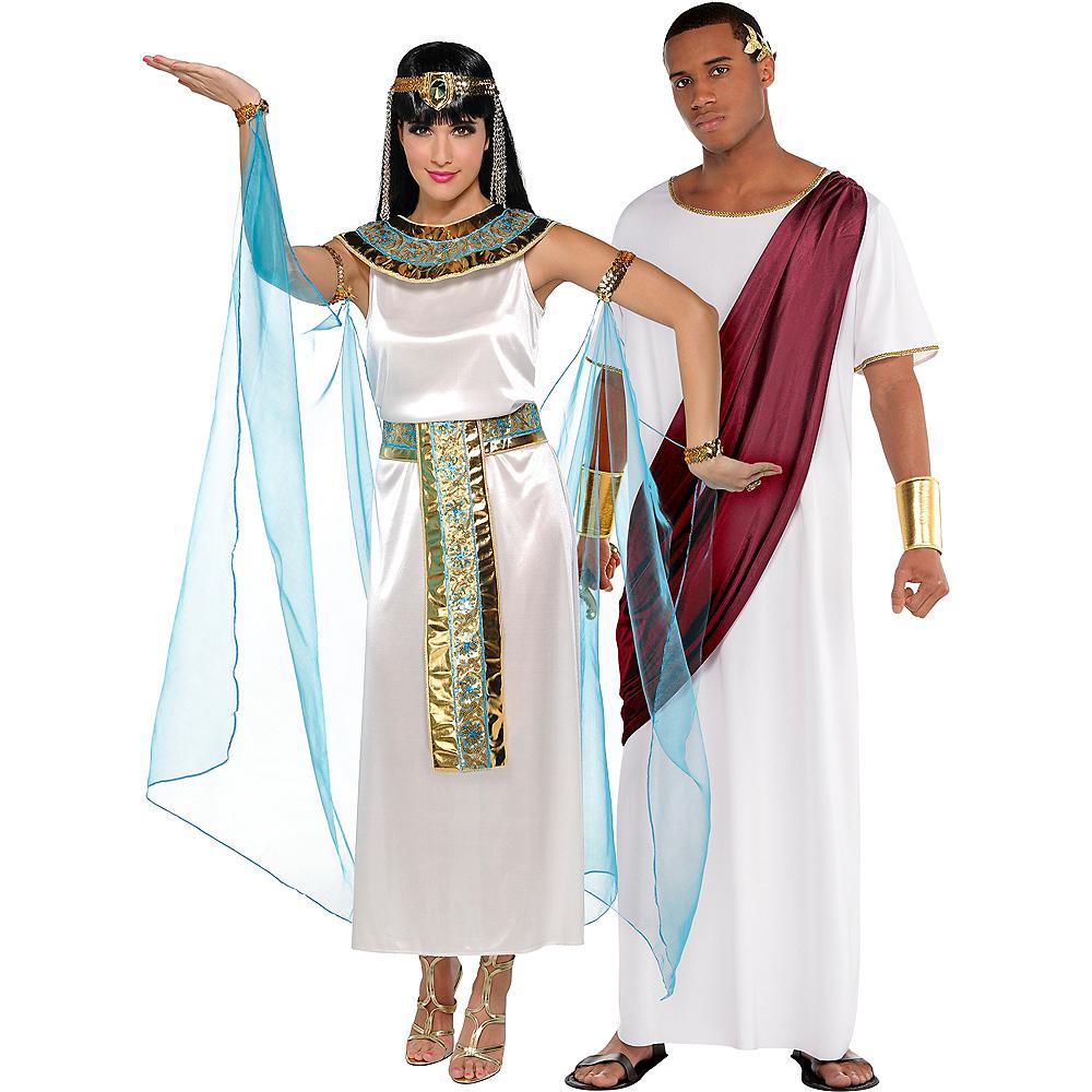 Adult Queen Cleopatra & Augustus Caesar Couples Costumes Image #1