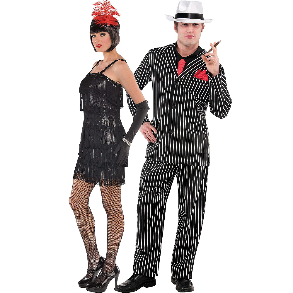 Flashy Flapper & Mob Boss Couples Costumes