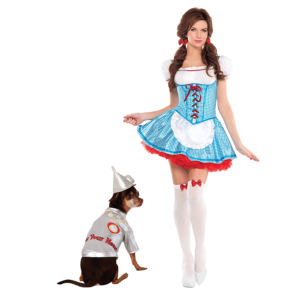 Adult Dorothy & Tin Man Doggy & Me Costumes - Wizard of Oz Image #1