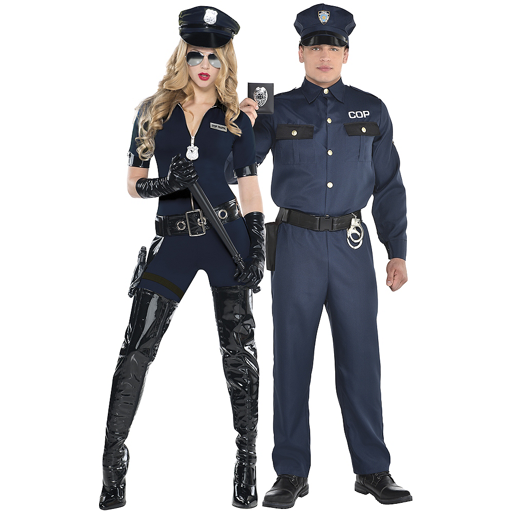 Adult Stop Traffic Sexy Cop & Police Officer Costumes Image #1