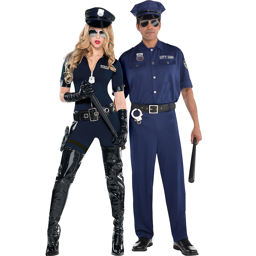 Adult Stop Traffic Sexy Cop & On Patrol Police Couples Costumes Image #1