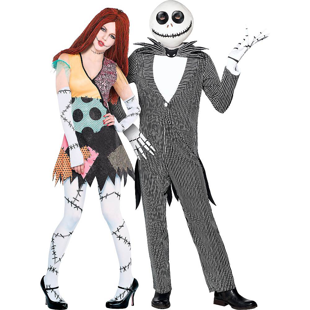 adult the nightmare before christmas couples costumes image 1