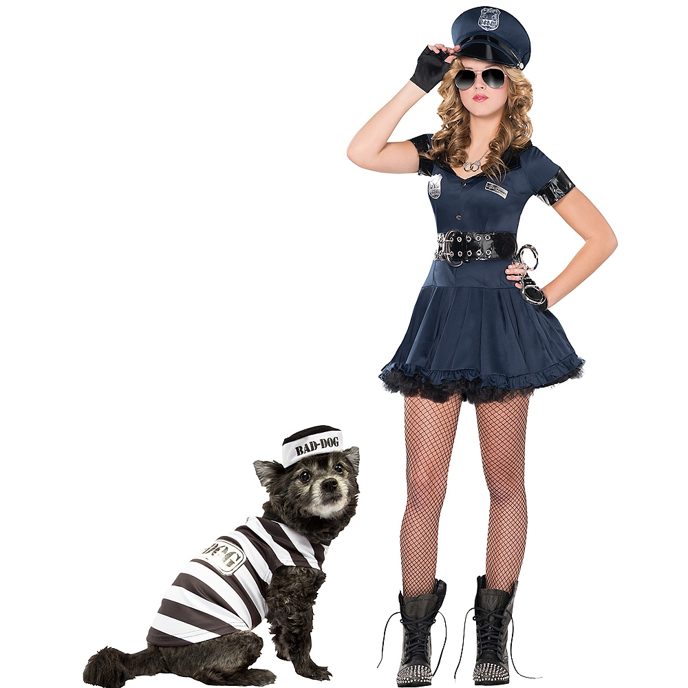 Nav Item for Adult Stop Traffic Sexy Cop & Bad Dog Prisoner Doggy & Me Costumes Image #1