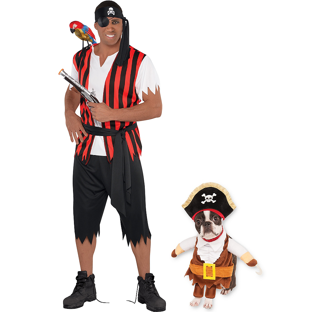 Adult Ahoy Matey Pirate & Walking Pirate Doggy & Me Costumes Image #1