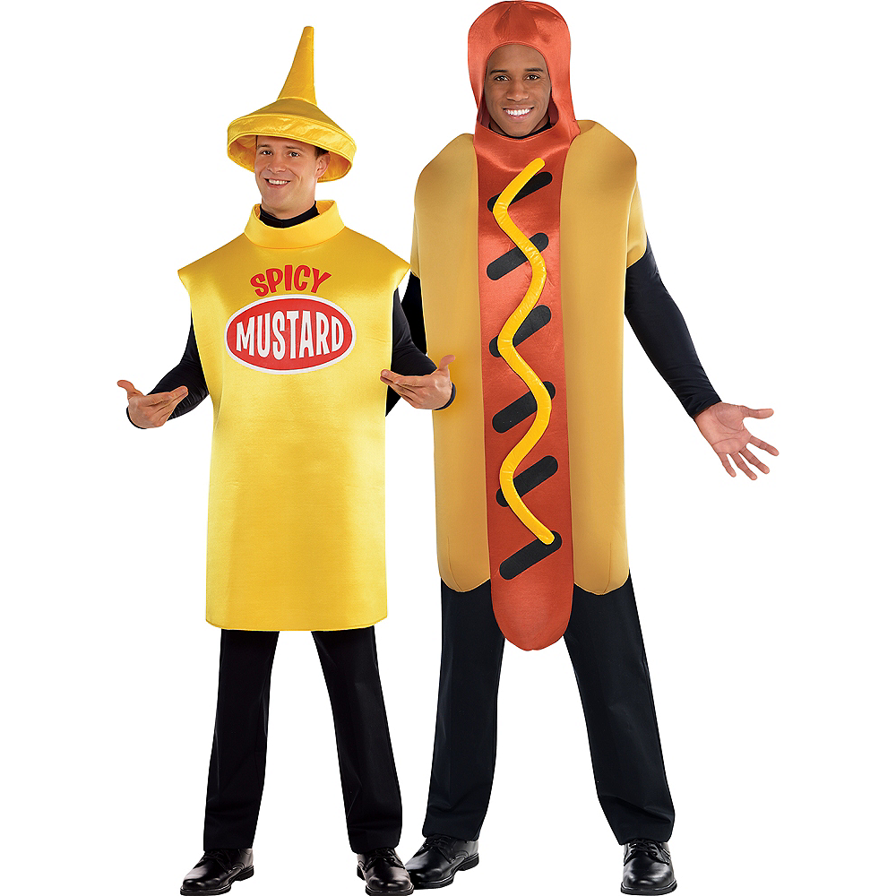 Adult Spicy Mustard & Hot Diggity Hot Dog Couples Costumes Image #1