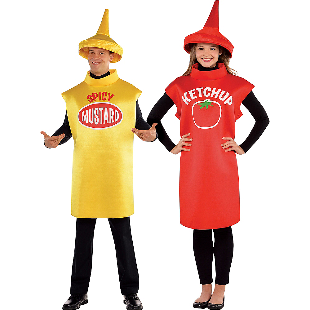 Nav Item for Adult Spicy Mustard & Classic Ketchup Couples Costumes Image #1