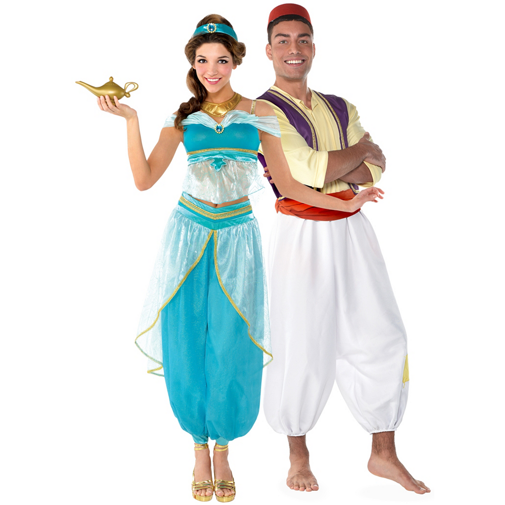 Nav Item for Adult Jasmine & Aladdin Couples Costumes Image #1