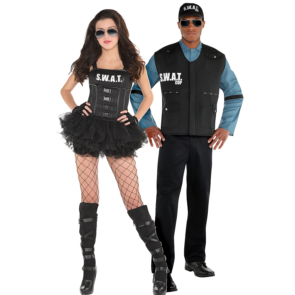 Adult Hot SWAT & SWAT Officer Couples Costumes Image #1
