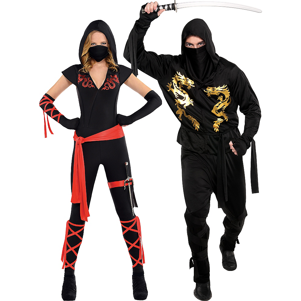 adult ninja couples costumes image 1