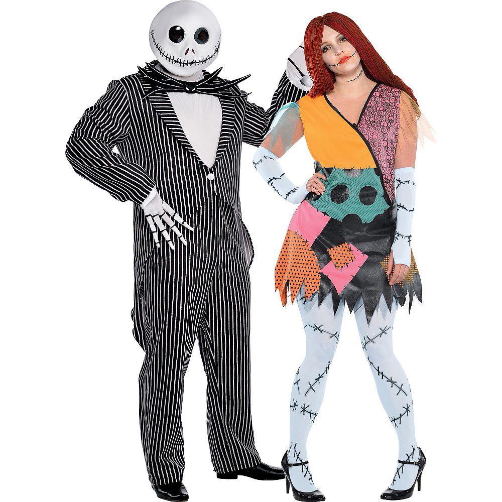 plus size nightmare before christmas couples costumes image 1
