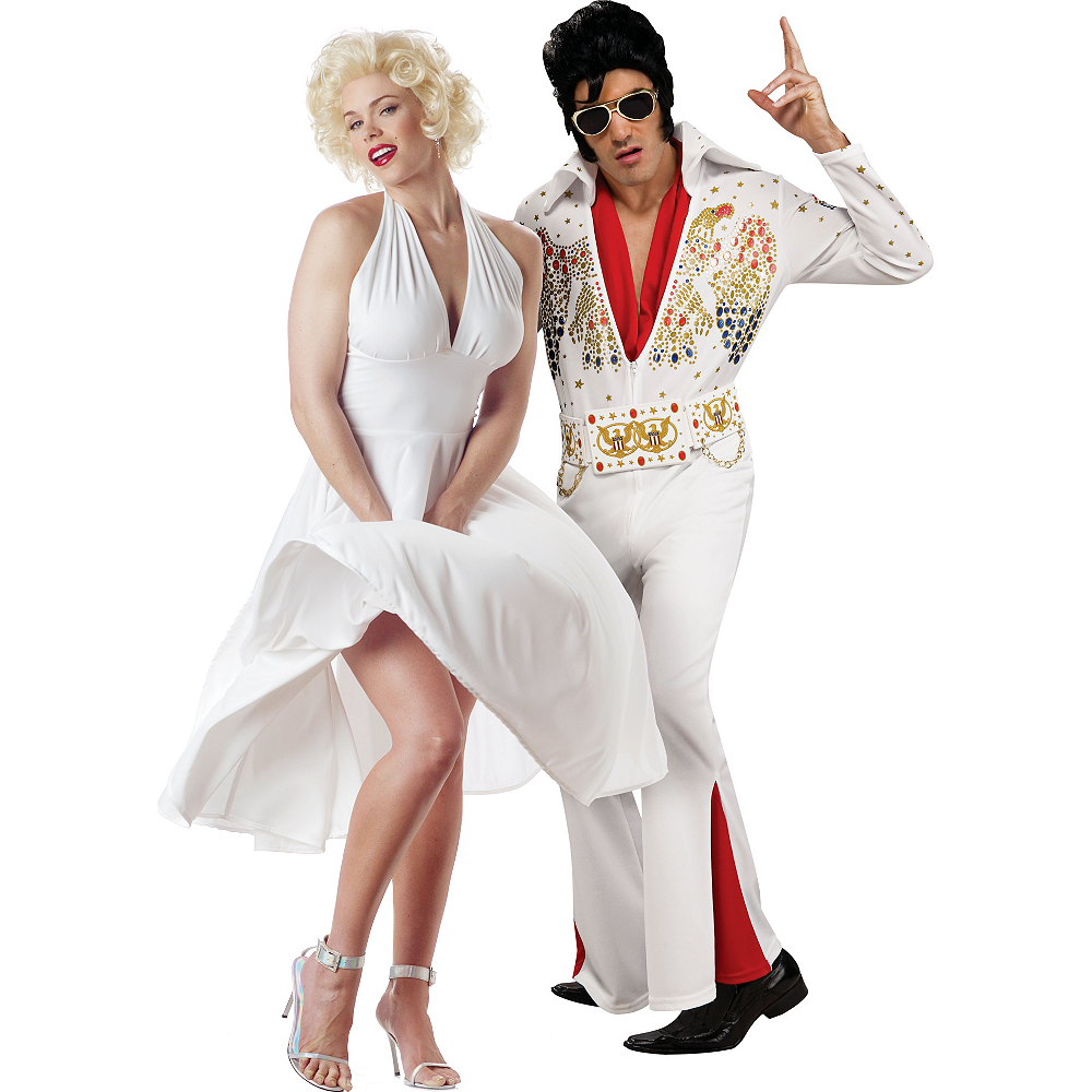 Nav Item for Marilyn Monroe & Deluxe Elvis Presley Couples Costumes Image #1