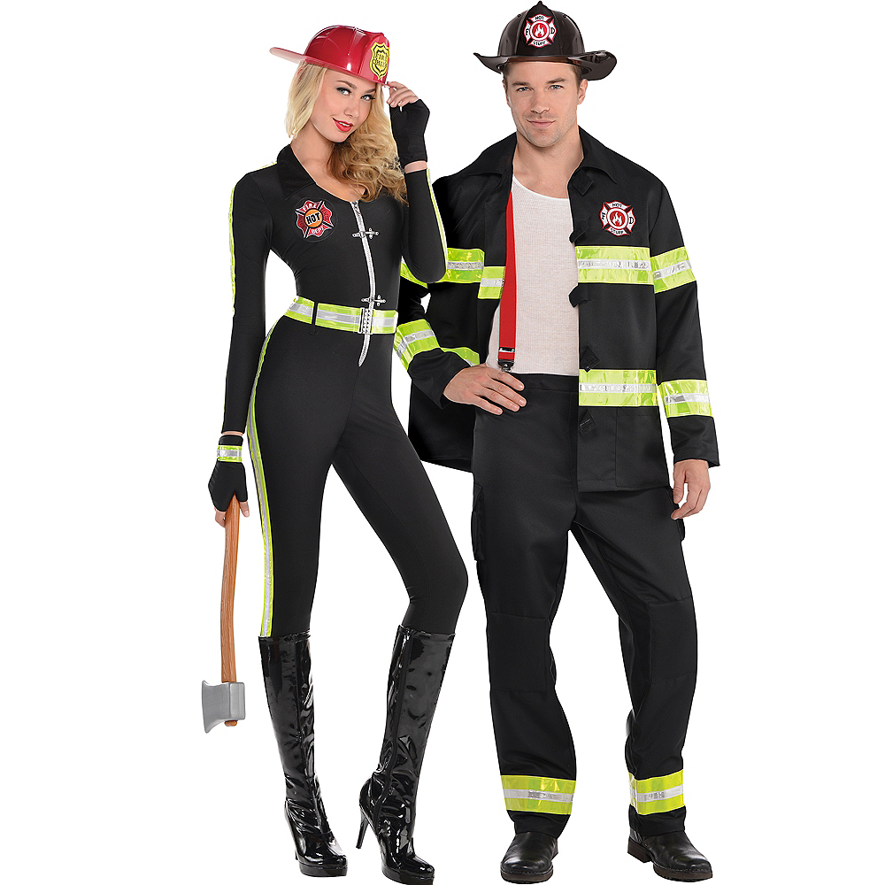 Adult Fired Up Firefighter & Rescue Me Firefighter Couples Costumes Image #1