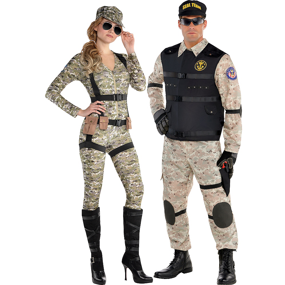 Adult Military Couples Costumes Image #1