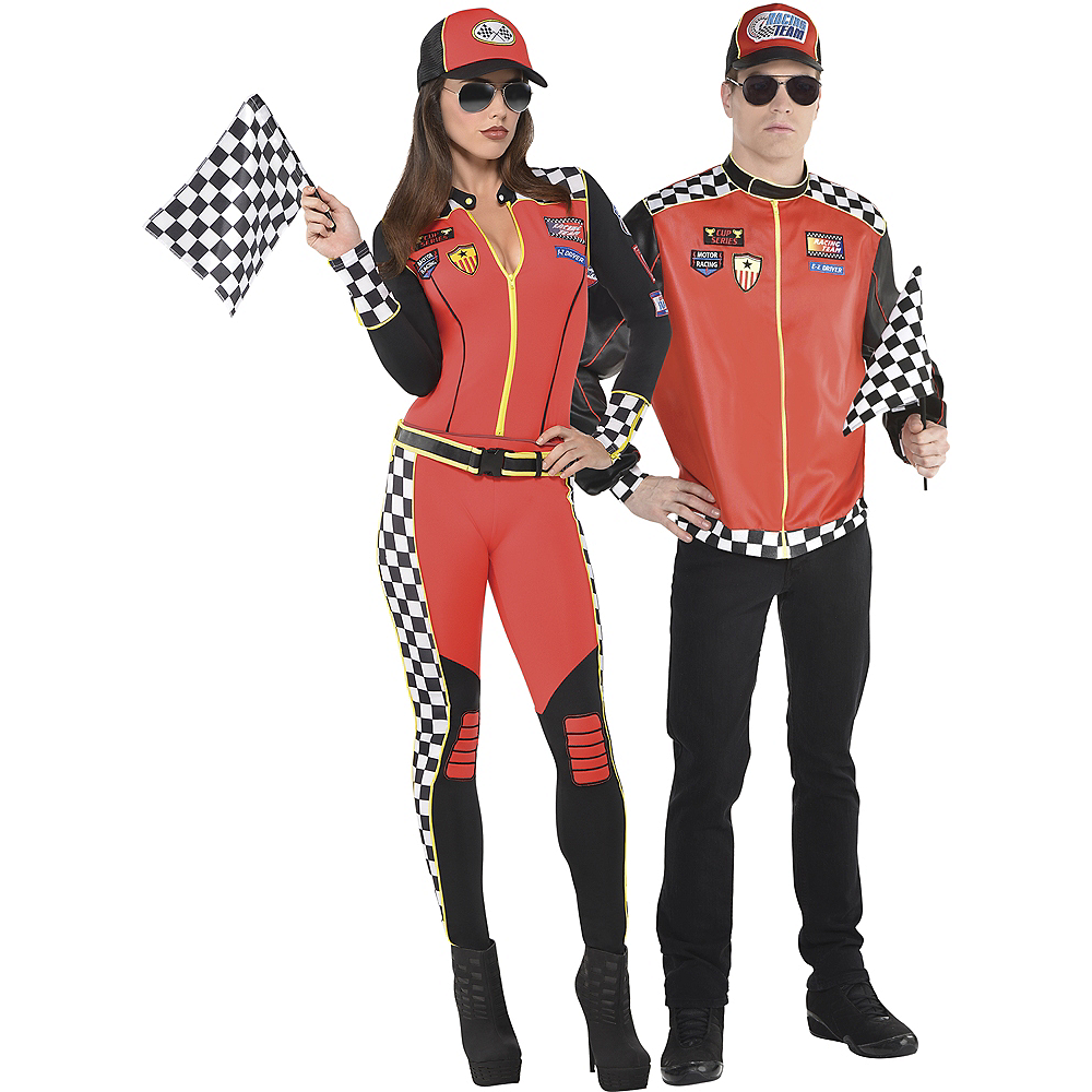 Adult Foxy Daytona Race Car Driver & Fast Lane Driver Couples Costumes Image #1