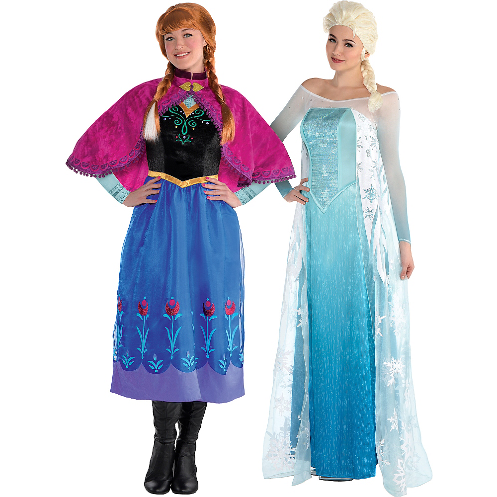 adult anna elsa couples costumes frozen party city. Black Bedroom Furniture Sets. Home Design Ideas