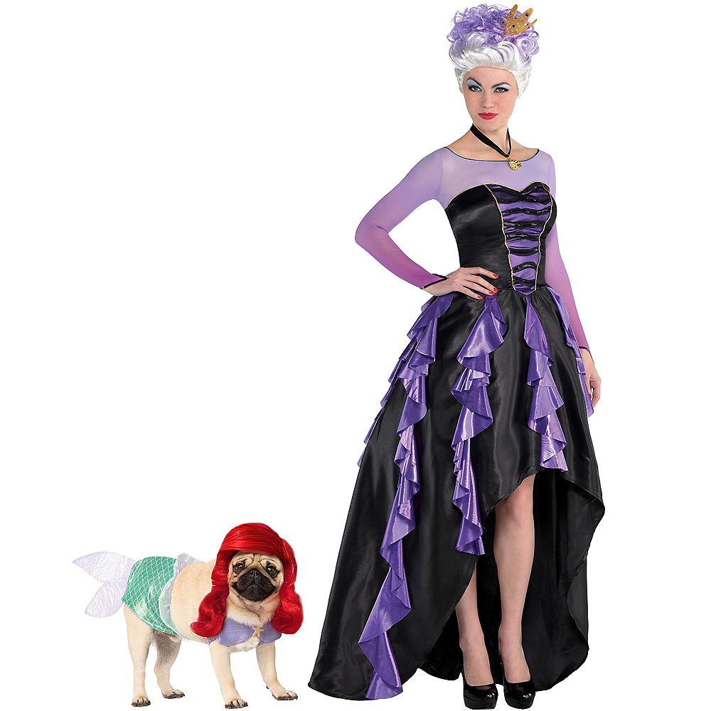 Adult Ursula & Ariel Doggy & Me Costumes - The Little Mermaid Image #1