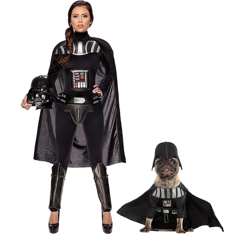 Adult Darth Vader Jumpsuit & Darth Vader Doggy & Me Costumes - Star Wars Image #1