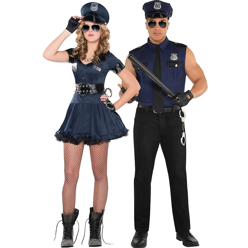 Adult Locked N Loaded Cop & Under Arrest Cop Couples Costumes Image #1