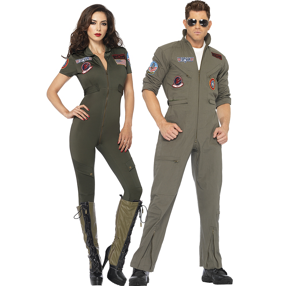 Adult Sexy Flight Suit & Flight Suit Couples Costumes - Top Gun Image #1