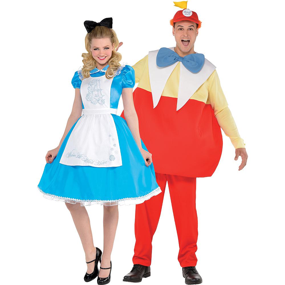 Adult Alice & Tweedledum Couples Costumes - Alice in Wonderland Image #1
